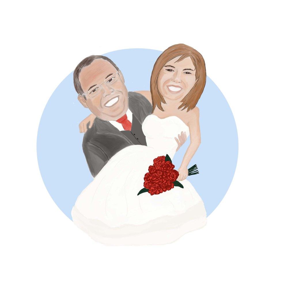 Cartoon wedding